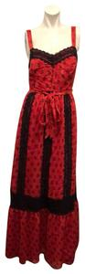RED/BLACK Maxi Dress by Modcloth