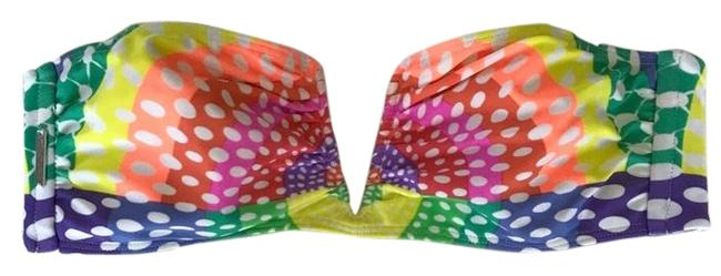 Item - Multi Colored Deep-v Bikini Top Size 4 (S)