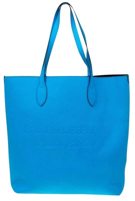 Item - Womens Remington Pebbled Soft Neon Blue Leather Tote