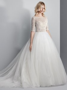 Sottero and Midgley Ivory Tulle Allen Traditional Wedding Dress Size 10 (M)