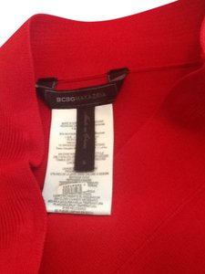 BCBGMAXAZRIA Power Red Fitted Skirt