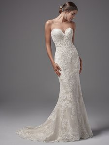 Sottero and Midgley Ivory Lace Ellington Sexy Wedding Dress Size 12 (L)