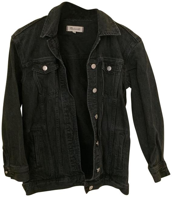 Item - Black Oversized Jean In Lunar Wash Jacket Size 00 (XXS)