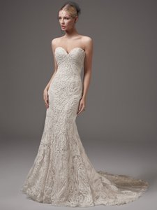 Sottero and Midgley Ivory Lace Hadley Sexy Wedding Dress Size 14 (L)