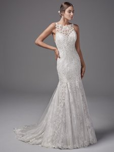 Sottero and Midgley Ivory Over Light Gold Lace Juno Modern Wedding Dress Size 16 (XL, Plus 0x)