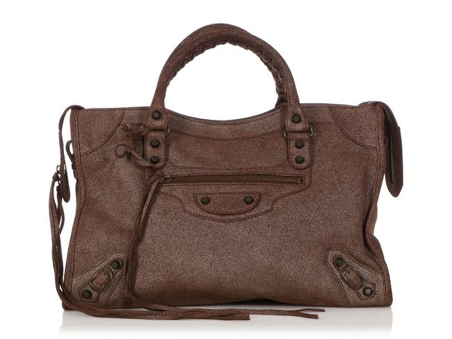 Item - Limited Edition 2010 Classic City Bronze Metallic Brown Calfskin Leather Satchel