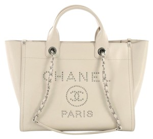 Chanel Leather Tote in off white