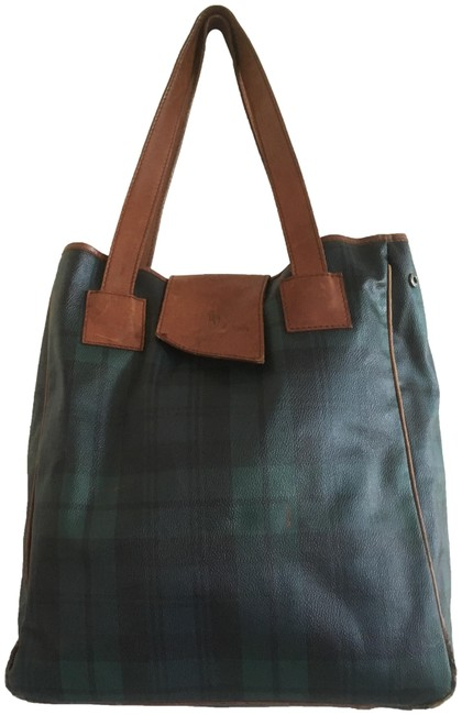Item - Plaid Collection Blue and Green Tote