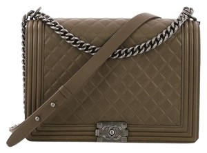 Chanel green Messenger Bag