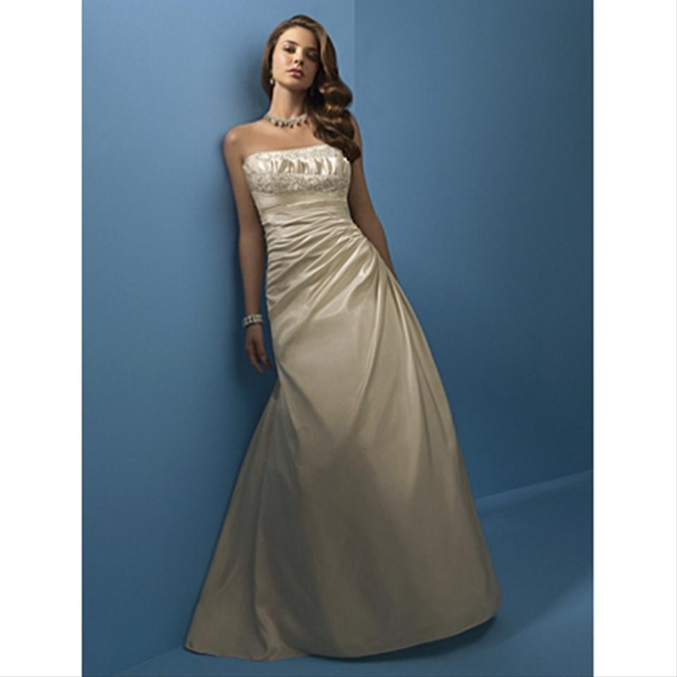 Alfred Angelo: Alfred Angelo White Style 2103 Modern Wedding Dress Size 8