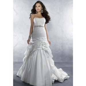 Alfred Angelo White Style 2168 Modern Wedding Dress Size 14 (L)