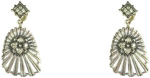 Stephen Dweck STEPHEN DWECK Sterling Silver .37tcw Diamonds Cutout Dangle Earrings
