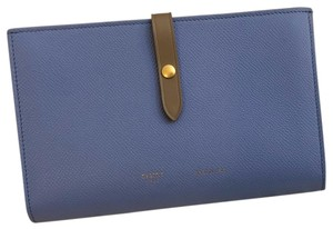 Céline Large Strap Wallet in Grained Calfskin