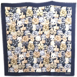Chanel Chanel Special edition Cat 100% Silk Scarf
