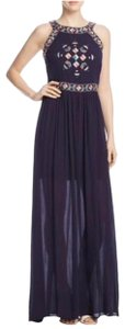 navy blue Maxi Dress by cupcakes and cashmere