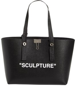 Off-White™ Off-white Leather Tote in Black