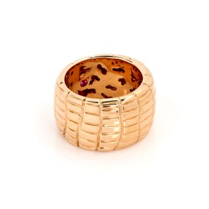 Roberto Coin Rio Road 18k Rose Gold 13.5mm Wide Band Ring