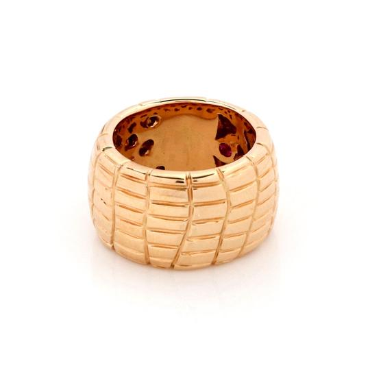 Roberto Coin Rio Road 18k Rose Gold 13.5mm Wide Band Ring Image 1