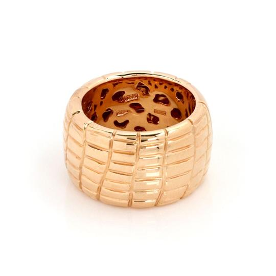 Roberto Coin Rio Road 18k Rose Gold 13.5mm Wide Band Ring Image 2