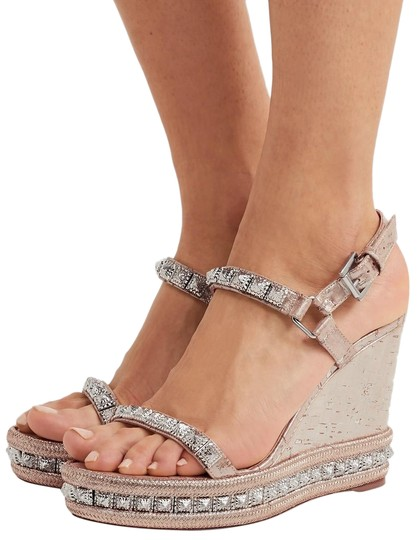 Christian Louboutin Pyradiams Sandals Pyradiams Pumps Silver Wedges Image 0