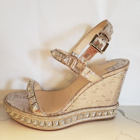 Christian Louboutin Pyradiams Sandals Pyradiams Pumps Silver Wedges Image 1