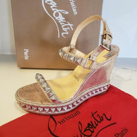 Christian Louboutin Pyradiams Sandals Pyradiams Pumps Silver Wedges Image 10
