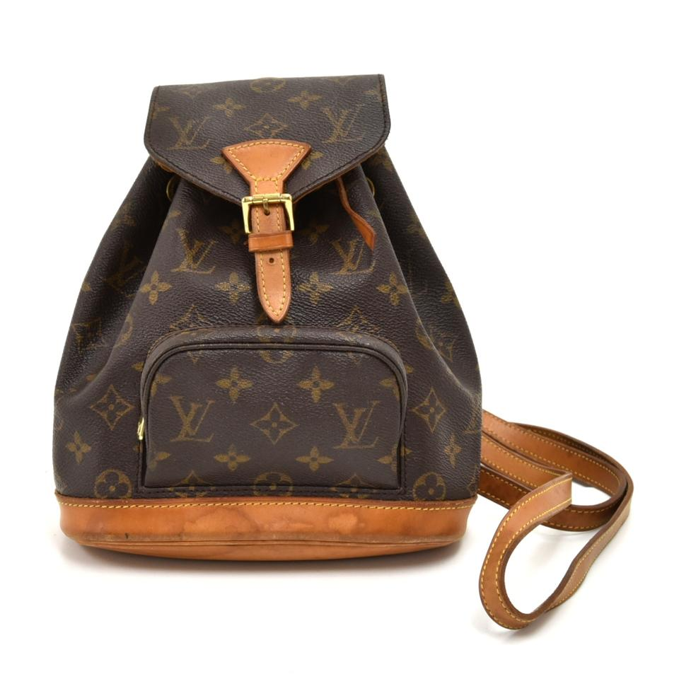 Louis Vuitton Montsouris Vintage Mini Monogram Brown Cotton Canvas Backpack  39% off retail