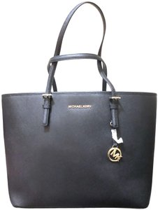 Michael Kors Womens Bags Leather Tote in Black