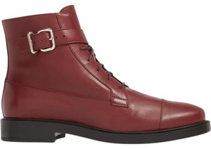 Tod's Combat Leather Burgundy Boots