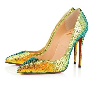 check out d2ebd 9c903 Newest Green Christian Louboutin Shoes Online at Tradesy