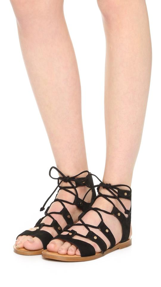 better order online for whole family Dolce Vita Black Jasmyn Suede Gladiator Sandals Size US 6.5 Regular (M, B)  61% off retail