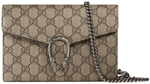 Gucci Silver Hardware Chain Tiger Dionysus Chain Wallet Shoulder Bag