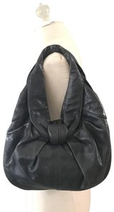 Kooba Leather Lambskin Genuine Leather Brown Leather Hobo Bag