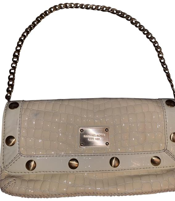 Item - Crocodile/Alligator Off White/Light Cream Quilted Leather Clutch