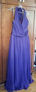 White by Vera Wang Amethyst Polyester; Chiffon Overlay 36201712 Formal Bridesmaid/Mob Dress Size 14 (L)
