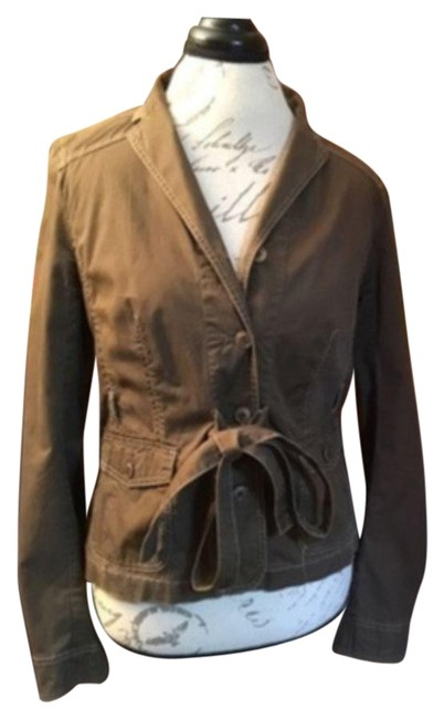 Item - Brown Belted Jacket-brown Small Jacket Size 6 (S)