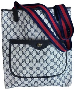 Gucci Vintage Shopper Accessory Collection Tote in navy