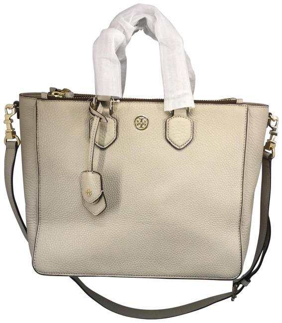 Item - Robinson Pebbled Square Beige Leather Tote