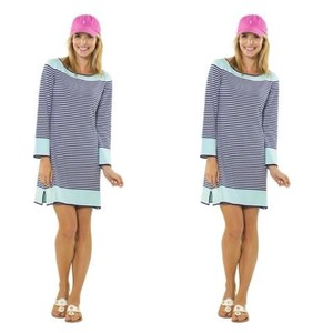Sail to Sable short dress Blue Striped Stripes Sweater Long Sleeve on Tradesy
