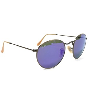 Ray-Ban mirrored Ray-Ban Round Metal Copper Flash Sunglasses RB3447 167/1M 50
