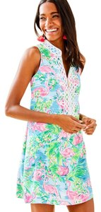 Lilly Pulitzer short dress Pink,White,Green on Tradesy