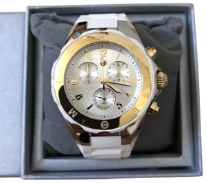 Michele NWT MICHELE JELLY BEAN White/ Silver-Gold WATCH MWW12F000056