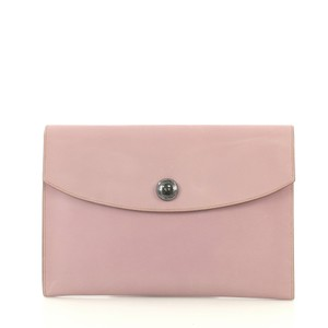 Hermès Leather Mauve Clutch