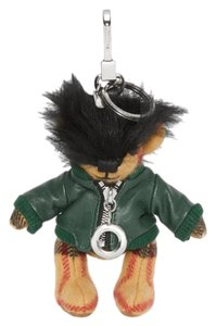 Burberry BRAND NEW BURBERRY THOMAS BEAR CASHMERE AND LEATHER BAG CHARM KEYCHAIN