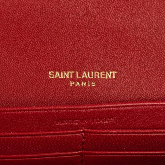a6467748 Saint Laurent Vicky Ysl Quilted Medium Handbag Red Leather Shoulder Bag 14%  off retail