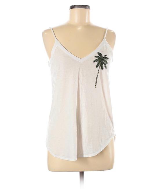 Item - White Graphic Back Tank Top/Cami Size 8 (M)