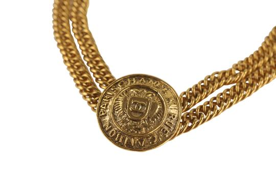 Chanel Medallion Charm Double Chain Image 4