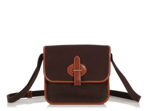 Hermès Hr.q0514.02 Palladium Tan Leather Reduced Price Brown Messenger Bag