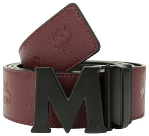 MCM Leather Reversible Embossed Monogram Belt 2XL MXB8AMM48NK130