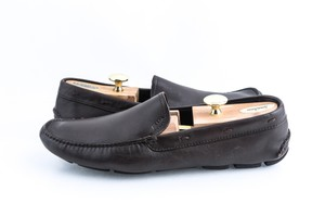 Prada Brown Leather Driving Loafers Shoes